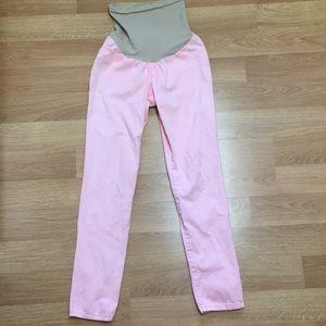 Motherhood Maternity Blush Pink Skinny Jeans Small